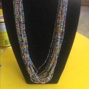 Jewelry - Multi Strand Multi Colored Beaded Necklace